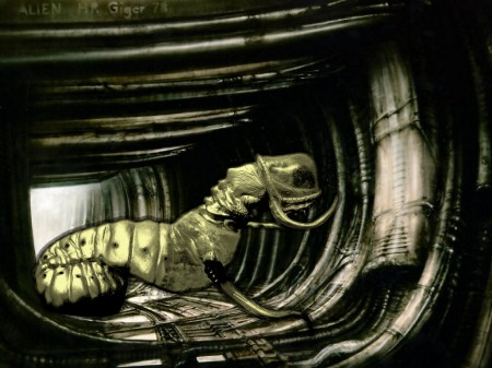 Larvagon Emerges in Giger's lost work
