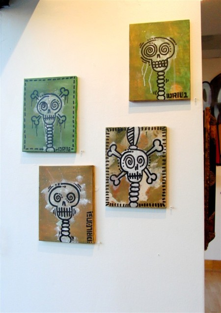 Skull Canvases by DrilOne