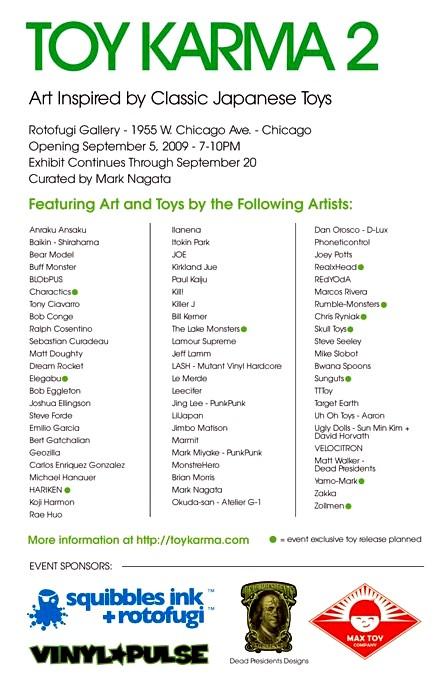 Artist List & Sponsers